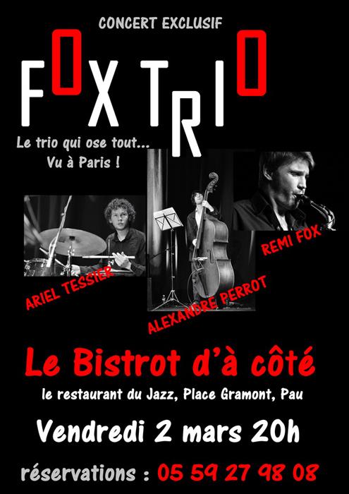 Affiche d'un spectacle de Jazz à PAU