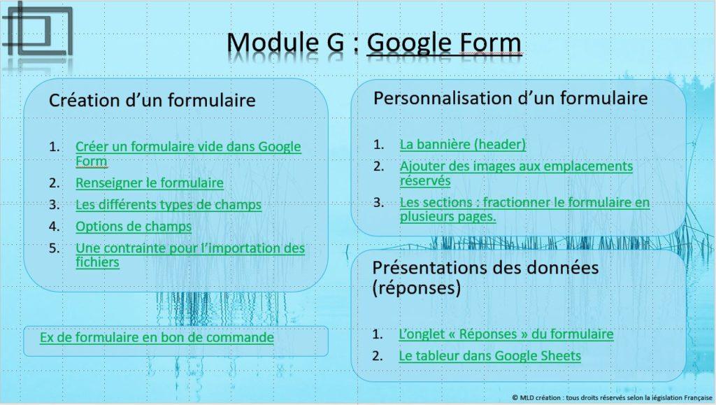 Formation sur l'outil GoogleForm